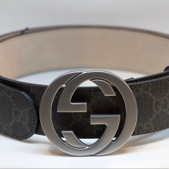 1c0a567cfdd Gucci Men s Black GG Supreme Canvas Belt